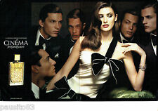 PUBLICITE ADVERTISING 096  2005   Yves Saint Laurent parfum femme Cinéma ( 2p)