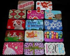 14 Collectible Gift Card TARGET Spring Department Store Dif Lot No Value  2010