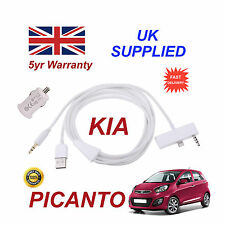 KIA Picanto For iPhone 5 5c 5s USB & 3.5mm Aux Cable & 1.0A Power Adapter