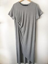 COS Ladies Unworn Grey Casual Everyday Loose Jersey Midi Maxi Dress L