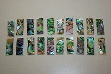 20 Deep blue/green flat mother of pearl pieces
