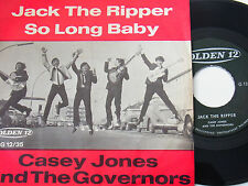 """7"""" - Casey Jones & The Governors Jack the Ripper & So long Baby - 1965 # 4486"""