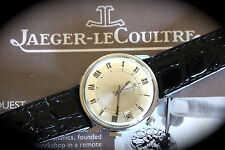 SUPERB LARGE STEEL VINTAGE JAEGER LE COULTRE MEMOVOX DATE WRIST ALARM WATCH N.R.