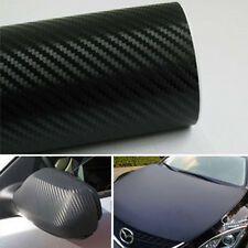 3D Black Carbon Fiber Vinyl Car Wrap Sheet Roll Film Sticker Decal 127x30cm