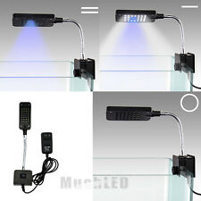 28 LED Aquarium Fish Tank Clamp Clip On Lamp Light White & Blue Color Lighting