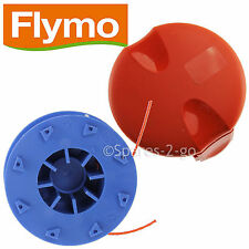 FLYMO Genuine Trimmer Double Autofeed Spool Line + Cover Cap Power Trim 500 700