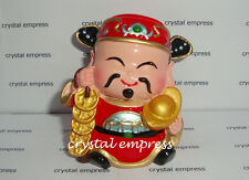 Feng Shui - Jolly Chai Shen Yeh Holding Ingot & Coins (God of Wealth)