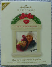 2012 HALLMARK ORNAMENT OUR FIRST CHRISTMAS TOGETHER PHOTO HOLDER