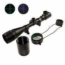 6-24x50 AOEG Rifle Scope Red Green Mil-dot illuminated Optical Scope w/ Sunshade