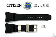 Citizen Eco-Drive BJ8050-08E Black Rubber Watch Band BJ8051-05E w/ Screws