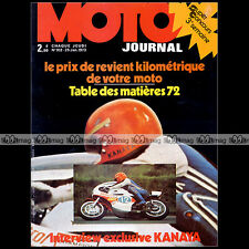 MOTO JOURNAL N°102 HIDEO KANAYA BMW R60/5 KREIDLER CZ 250 BENELLI 125 CROSS 1973