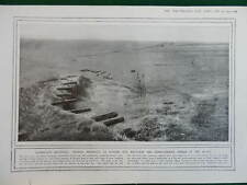 1914 DUMMY GUN BATTERIES; RAMSCAPELLE FLOODED WWI WW1 (1 SHEET, BOTH SIDES)