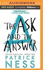 Chaos Walking: The Ask and the Answer 2 by Patrick Ness (2016, MP3 CD,...