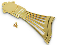 FAN STYLE DIECAST ARCHTOP NOBEL HEAVY TAILPIECE GOLD JAZZ GUITAR SEMIACOUSTIC