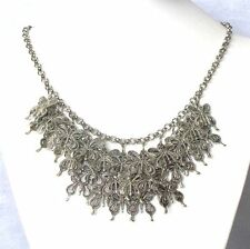 Betsey Johnson Silver butterfly surrounded bib Fashion Necklace#877L