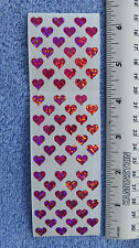 "Sandylion HEARTS PRISMATIC MINI 1/4"" Vintage Stickers RETIRED"