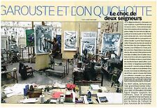 Coupure de presse Clipping 1998 (8 pages) Garouste et Don Quichotte
