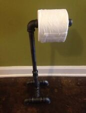 Industrial  Pipe Toilet Paper Holder Free Standing Stand