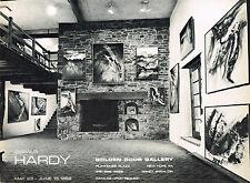 1960's Original Vintage Gerald Hardy Exhibition Golden Door Art Gallery Print AD
