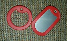 2 RED Dog Tag Silencers - Military STYLE Silencer - RED - Tag not included, NEW