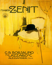 ZENIT FASHION MENSWEAR HAT GLOVES CANE ITALY 8X10 VINTAGE POSTER REPRO FREE S/H