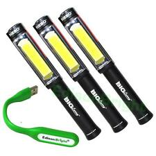 3 Pack NEBO 6306 Big Larry 400 Lumen COB LED (Black) WorkLight w/AA Batteries