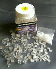 (JAR of 100) Platinum Tools 106188J RJ45 Cat6 2pc, R/S 3 Prong