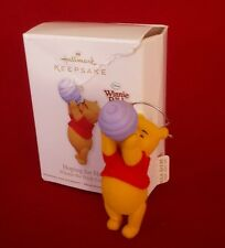 Hoping for Honey WINNIE THE POOH COLLECTION 2011 Hallmark FLOCKED BEAR Box