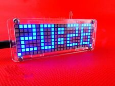 DIY Electronic Microcontroller matrix LED Digital Clock Watch Time Thermometer