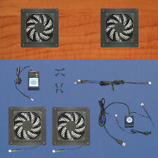 Mega-fan 2-Zone USB-controlled AV & Computer cabinet cooling fans / multi-speed