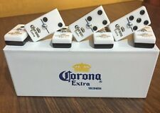 New Corona Extra Dominoes Game Set, Double Six, Domino With Hard White Case