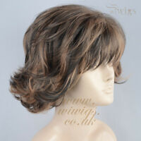 Classic Short Perfect Wavy Summer Style Blonde mix Brown Ladies Wigs WIWIGS UK