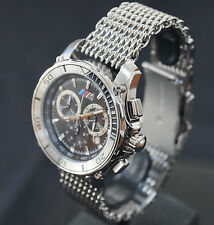 Rare BMW M Chronograph Men`s Women`s Watch with a Stainless Steel Bracelet