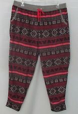 Disney Luxe Lounge Pants Fleece Mickey Mouse Snow Flake Print Plus 2X NWT $48.00