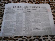 LE MONITEUR UNIVERSEL, journal officiel de l'empire français, n° 294, 21/10/1858