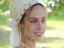 Shiny White Festive Sinar Tichel Hair Snood Head Scarf,Head Covering Chemo Hat