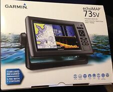 "Garmin echoMAP 73sv 7"" Screen and INCLUDES Transducer PLUS DownVu & SideVu -New!"