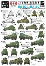 Star Decals 1/35  BA-10 and BA-20 armoured cars in foreign service 35889