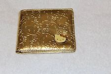 RARE GOLD HELLO KITTY EMBOSSED FAUX PATENT LEATHER BIFOLD WALLET