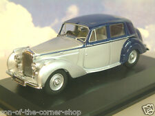 OXFORD 1/43 1946-52 BENTLEY MKVI MK6 MIDNIGHT BLUE/SHELL GREY (SILVER) BN6004