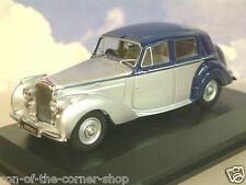 OXFORD 1/43 1946-52 BENTLEY MKVI MK6 MIDNIGHT BLUE/SHELL GREY (SILVER) BN6004