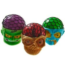 (3) Squishy Skull Monster Mesh Stress Balls for Kids