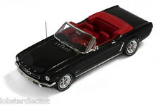 1965 FORD MUSTANG CONVERTIBLE in Black 1/43 scale model by PREMIUM X