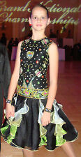 Girl Custom Pre-Owned Ballroom Latin Dance Dress 11-12 yrs