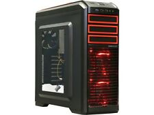 DEEPCOOL KENDOMEN Red ATX Mid Tower Computer case Preinstalled 5 Cooling Fans Wi