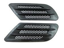 2 Side Wing Air Flow Intake Vent Trim Fender Grill Universal Black  NEW