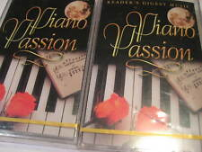 Lot of 2 Piano Passion Volumes 1 and 2 Unopened Readers Digest Cassettes