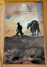 Brokeback Mountain Broadside poster Signed by Annie Proulx & William Matthews