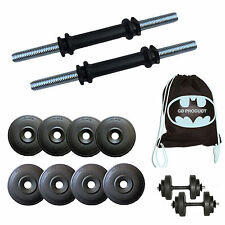 20 KG ADJUSTABLE PVC DUMBBELL SET, GYM BAG