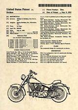Official Harley Davidson Super Glide US Patent Art Print -Vintage Motorcycle 203